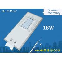 Wholesale Automatic Time Control Smart LED Solar Street Lights 18W All in One Pole from china suppliers