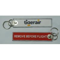 Wholesale Tigerair Airbus A320 Crew Baggage Fabric Embroidery Key Chain Aviation Tags from china suppliers