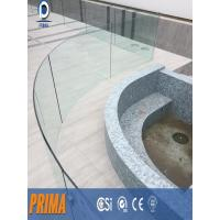 Wholesale Prima terrace deck base u channel curved glass railings outdoor from china suppliers