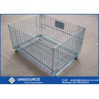 Wholesale Easily Removable Wire Mesh Container Foldable Metal Mesh Cage With Forklift from china suppliers