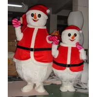 Wholesale Custom Adult and Kids Christmas Red Snowman Mascot Costumes from china suppliers