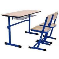 China Adjustable Double School Desk and Chair on sale