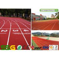 Wholesale IAAF Certified synthetic running track with Spray Coating System from china suppliers