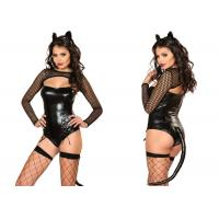 Wholesale Four Piece Black Female Halloween Costumes ,  Naughty Miss Kitty Sexy Halloween Costumes from china suppliers