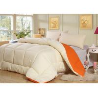 Wholesale White and Orange Lightweight Light Comforter Sets for Spring And Autumn from china suppliers