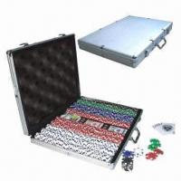 Buy cheap 1000 pieces gambling/trolley poker chips case in casino type from wholesalers