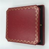 Wholesale France Cartier Big Necklace Box Original Cartier Necklace Jewelry Gift Box Package with Certificate from china suppliers