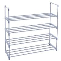 Wholesale Adjustable 4 Tier Shoe Storage Rack Shelf With Big Space Metal Shelving Unit from china suppliers