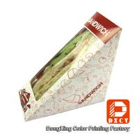 Wholesale Innovative Eco Friendly Paper Food Boxes , Triangle Sandwich Packaging Box from china suppliers