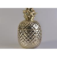 Wholesale Popular Gold Ceramic Candle Jars , Pineapple Shaped Ceramic Candle Holders With Lids from china suppliers