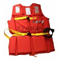 Wholesale 210D Polyester Oxford EPE Foam Workers Adult Life Vest With Whistle / Rescue Buddy Line from china suppliers