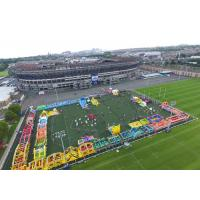Wholesale Race Wipeout Course Inflatable Tunnel , Rental 5k Inflatable Obstacle Course from china suppliers