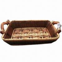 Wholesale Willow Food Basket, Made of Willow, Wood and Paper Rope from china suppliers
