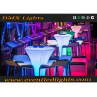 Wholesale Popular Plastic Led Cocktail Party Tables Lighting , Illuminated Bar Tables IP55 from china suppliers