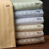 Wholesale Poly Cotton Bed Sheet Fabrics Stripe for Hotel (LJ-C43) from china suppliers
