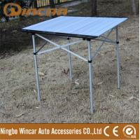 Bbq table heavy duty foldable picnic camping table with 2 benches