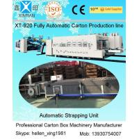 Wholesale Automatic Corrugated Paperboard Flexo Printer Slotter Folder Gluer with Bunding Machine from china suppliers