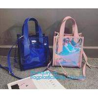 Wholesale Classical Colorful PVC Wallet Bag Pouch Bag shoulder bag, PVC Crossbody Bag For School Travel Girls, Tote Bag Clear Shou from china suppliers