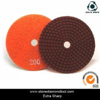 velcro backed wet stone diamond polishing pads/marble abrasive tools