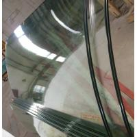 Wholesale Ultra Clean low iron Curved Safety Tempered Glass For Sightseeing Staircase from china suppliers