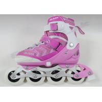 Wholesale Rigid Shell Pink Hockey Roller Skates Inline Hockey Equipment With PU Rubber Wheels from china suppliers