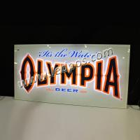 Wholesale OLYMPIA Beer Backbar Sign with LED Light from china suppliers