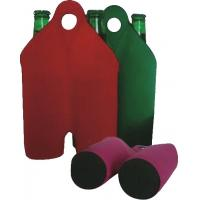 Buy cheap Hot-selling High quality Neoprene Wine holder Water bottle bag two-Bottle holder with handle from wholesalers