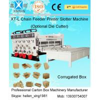 Wholesale Chain Feeder Printing Carton Box Making Machine with Slotting Die Cutting from china suppliers
