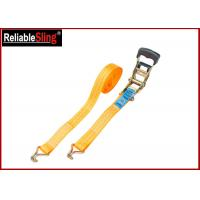 Wholesale Breaking Strength 50mm 5T Heavy Duty Ratchet Tie Down Strap With One PVC blue label from china suppliers