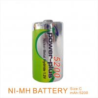 Wholesale long cycle life 1.2v 5200mAh C NiMh rechargeable battery  from china suppliers