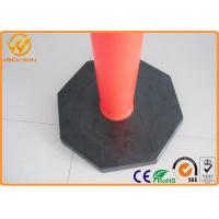 Wholesale 1150Mm Height Plastic Traffic Delineator Post T Top Bollards 6kgs Or 8kgs Black Rubber Base from china suppliers