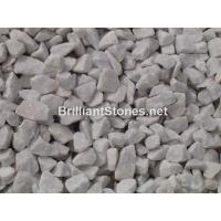 Wholesale Natural Snow White Marble Gravel, Unpolished, Crushed, Different sizes, Widely For Garden from china suppliers