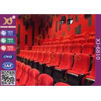 Wholesale Fabric Upholstered Folding Theater Seats Returning Seat By Gravity No Noise from china suppliers