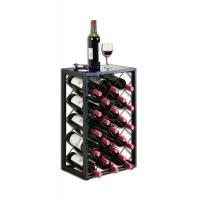 Wholesale Unique Vertical Type 32 Bottle Floor Wine Rack With Glass Table Top from china suppliers