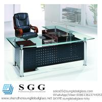 Wholesale CE& SGS certificated Excellence quality big office glass table top from china suppliers