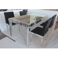 Wholesale glass mirrored dining table with chair from china suppliers