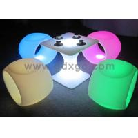 Wholesale Waterproof Led Funny Plastic Chairs and Table Outdoor with RGB LED from china suppliers