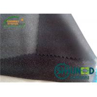 Stretch Plain Interlining Fabric Polyester Polyamide For Women ' s Garment