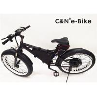 Wholesale 15Ah Fat Tire Electric Mountain Bike , Electric Fat Tire Beach Cruiser Bikes from china suppliers