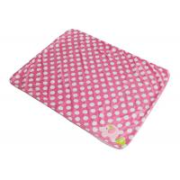 Wholesale Eco - Friendly Soft 100% Polyester Baby Blanket Pink With Elephant Pattern from china suppliers