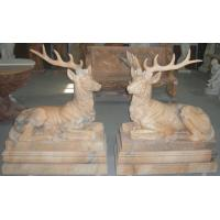 Wholesale Deer marble sculpture for garden from china suppliers