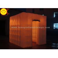 Wholesale Colorful LED Cube Inflatable Advertising Portable Photo Booth for Outdoor from china suppliers