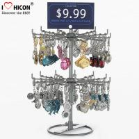 Wholesale Turnable Keychain Counter Display Racks / Retail Hanging Display Racks 2-layer from china suppliers