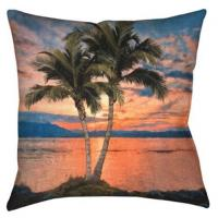 Wholesale Sunset Beach Palm Outdoor Decorative Pillows Velvet / Canvas Throw Pillows from china suppliers