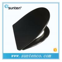 New Style Quick Release V Shape Black Toilet Seat Covers