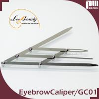 Wholesale Flexible Stylish Eyebrow Grooming Tools Golden Ratio / Mean Caliper Divider from china suppliers