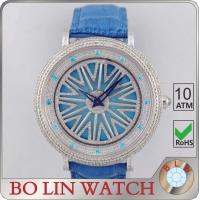Wholesale Italy Genuine Leather Strap Diamond Quartz Watches For Men Lucky Turning Style from china suppliers