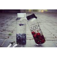 Quality Big Capacity Fashionable Water Bottles Glass 500ml Heat Resistance for sale