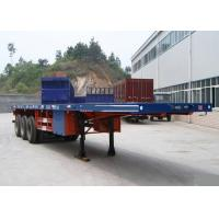 Wholesale Container Carrying Flatbed Semi Trailer Truck 3 Axles 30-60 Tons 13m from china suppliers