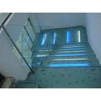 Wholesale Light Blue Anti Slip Glass Stair Treads, Shock Resistant Anti Skid Laminated Glass from china suppliers